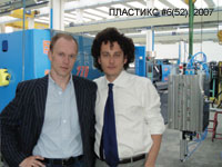 Dmitry Tverdokhlebov, official representative of Plastic Metal S.p.a. and Massimo Virginio, business manager of Plastic Metal S.p.a.